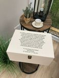 VERY LARGE Personalised HUSBAND Keepsake Bereavement Memory Box ANY NAME - 233344275957